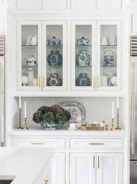 Cabinetry With Up Lights For Showing Off Display Kitchens - Kitchen cabinet with hutch