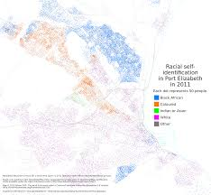 Chicago Race Map by Dot Maps Of Racial Distribution In South African Cities U2013 Adrian