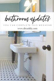 Easy Bathroom Ideas by 4 Diy Bathroom Ideas That Are Quick And Easy L Diva Of Diy