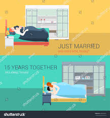 Set Family Couple Bedroom Bed Sleeping Stock Vector - Family sex room