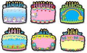 birthday board carson dellosa birthday cakes bulletin board set