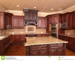 luxury home kitchen front center island royalty free stock image