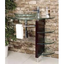 vessel sink and vanity combo kokols wall mount bathroom glass vessel sink vanity combo