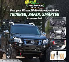 nissan murano nudge bar nissan np300 navara now offered with ironman 4x4 accessories