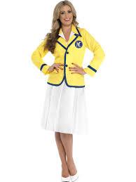 ladies 80s hi de hi holiday rep camp yellow coat fancy dress