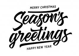 merry seasons greetings inscription vector free