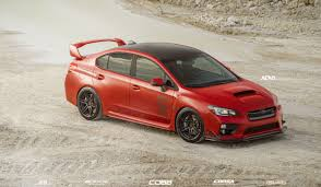 red subaru sedan matte red subaru wrx sti adv 1 wheels youtube