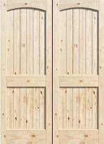 Knotty Pine Interior Doors Knotty Pine Doors Arch Top Square Top 6 Panel