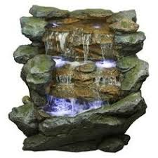 5 tier orowood outdoor fountain with lights 240 29 menards