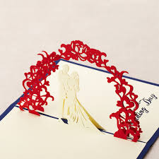Buy Wedding Greeting Cards Online Three Dimensional Sweet Wedding Greeting Cards 114042508