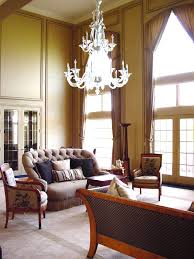 two story arched window treatment