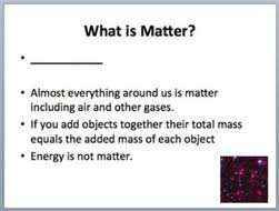 matter an introduction elementary science lesson by