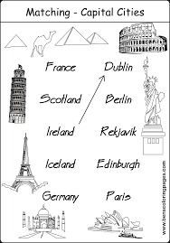 geography coloring pages capital city