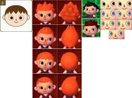 acnl hair what would your character look like animal crossing new leaf