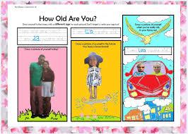 how old are you esl worksheet mrs baia u0027s classroom