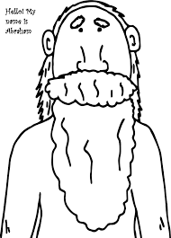 hello my name is abraham and sarah coloring page wecoloringpage