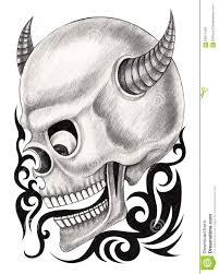 art skull devil tattoo stock illustration image 66271759