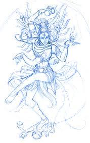 sketch shiva nataraja wip by ninjafaun on deviantart