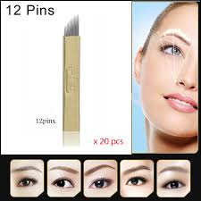 eyebrow permanent makeup kit 3d eyebrow manual makeup pen u0026 12 pin