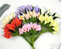 callalily flower diy artificial mini foam calla flower wedding invatation
