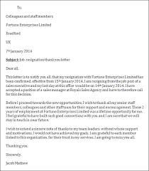 resignation letter format best format resignation thank you