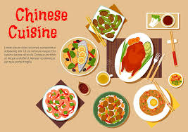 popular cuisine popular dishes of cuisine icon flat style stock vector