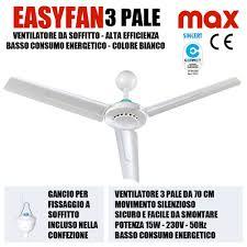 ventilatori da soffitto prezzi ventilatore da soffitto 70cm plastica ingrosso24online prezzi all