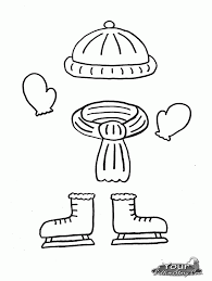 snow clothes coloring page coloring home