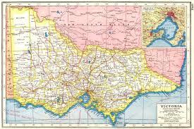 atlas map of australia australia inset plan of melbourne and port philip 1920