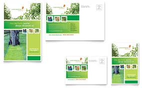 lawn mowing service postcard template word u0026 publisher
