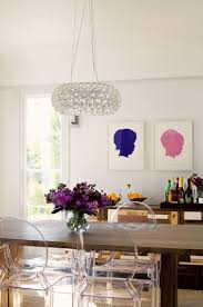 212 best louis ghost chair inspirations images on pinterest a cup of jo los angeles home tour love the dark wood table with ghost chairs
