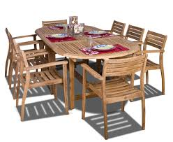 Good Quality Teak Product Amazon Com Amazonia Teak Coventry 9 Piece Teak Oval Dining Set