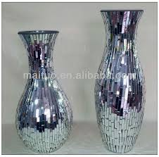 Mirrored Vases Mirrored Mosaic Vase Buy Crackle Glass Vase Big Vases Glass