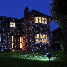 snowfall snow flake exterior house led light projector