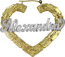 name plated earrings personalized earrings ebay