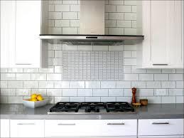 kitchen chrome countertop kitchen flooring gray ceramic subway