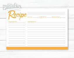 printable recipe cards editable recipe card template