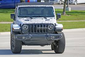 jeep angry headlights spyshots 2018 jeep wrangler jl reveals grille and headlights