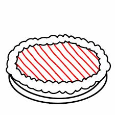 drawing cartoon pie