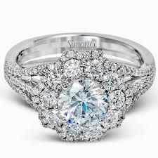 large ladies rings images Simon g large center diamond halo engagement ring jpg