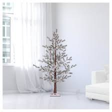 philips 5ft prelit artificial flocked twig tree warm
