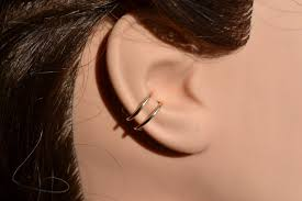 ear hoop gold hoop rings right ear cartilage piercing