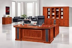 magnificent wood office desk in classic home interior design with