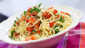 Pasta Recipes by Katherine Heigl U0027s Brie Tomato Pasta Today Com