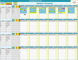 Ip Address Spreadsheet Template Family Employee Availability Planner Microsoft Excel Custom