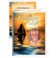 memorial card memorial cards sailboat small funeral card template