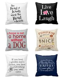 decorative throw pillows with quotes and sayings on them cute