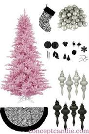 Zebra Christmas Tree Decorating Ideas by Zebra Christmas Tree With Hints Of Pink Christmas Decor