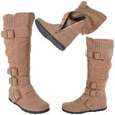 womens boots knee high womens boots knee high mid calf flat adjustable straps