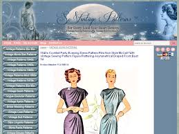 1940s cocktail party evening dress pattern film noir style mccall